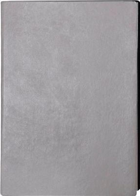 Notizbuch Service, DIN A4, 128 karierte Blätter, Kunstleder, grau