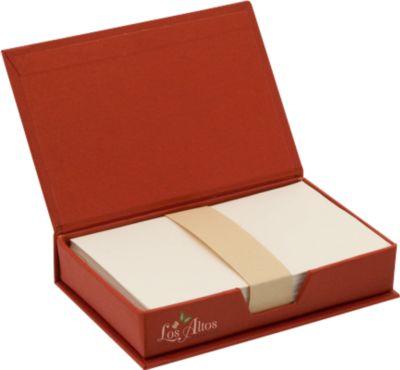 Notizzettelbox aus recycelter Pappe, 180 Blatt recyceltes Papier, rot
