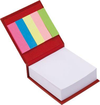 Notizzettelbuch, 200 Notizzettel, 125 Haftnotizen, rot
