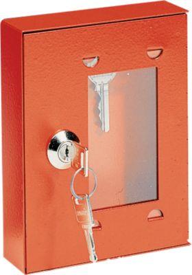 Notschlüsselkasten, zum Verplomben, mit Schloss, ohne Klöppel, gleichschließend