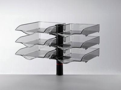 Novus Ablagekorb CopySwinger Duo, 2 x 3 Kästen, B4-Format, Säulensystem, anthrazit