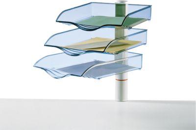 Novus Ablagekorb CopySwinger, wahlweise 3 bis 5 Kästen, B4-Format, Säulensystem, lichtgrau