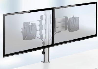 Novus monitorzuil TSS Duo-telescoop 400, voor 2 monitoren, 2 x telescopische draagarmen
