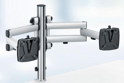 Novus monitorzwenkarm TSS Duo 505, voor 2 beeldschermen, klem 14 tot 40 mm, 2 x klaparm.