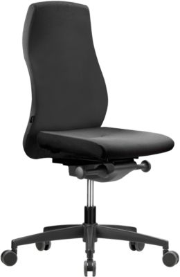 NowyStyl Bürostuhl NOW 2, Synchronmechanik, ohne Armlehnen, Lordosenstütze, Muldensitz, schwarz/schwarz