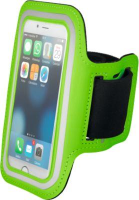 Oberarmtasche Armphone, Klettverschluss, transparent, perfekt beim Sport, limettengrün