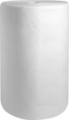 Ölbindevlies Rolle groß, 173 l Aufnahme, ohne Perforierung, L 40000 x B 800 mm, weiß