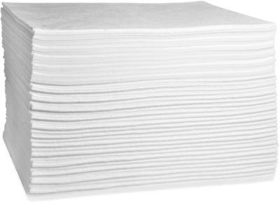 Ölbindevlies Tücher First, 108 l Aufnahme, ohne Perforierung, L 500 x B 400 mm, weiß, 100 Stück