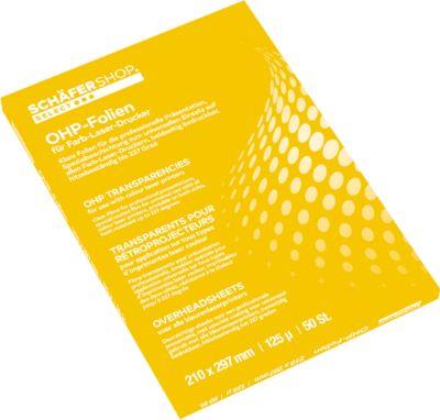 OHP-Präsentationsfolien f. S/W-Kopierer , 100 St.