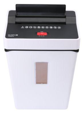 Olympia Aktenvernichter PS 55 CC, Partikelschnitt 4 x 40 mm, Sicherheitsstufe P-4, weiß