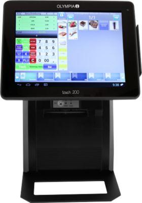 Olympia Registrierkasse Touch 200, GoBD/GDPdu, Dallas-Schloss m. 4 Schlüsseln, schwarz