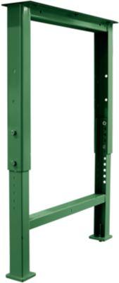 Onderstel voor multiplex-werkbladen WFH707-B1,  in hoogte verstelbaar, 665 x 585 - 956 mm, groen RAL 6011