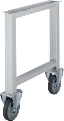 Onderstel voor multiplex-werkbladen WFH707-B1, niet in hoogte verstelbaar, 665 x 800 mm, met wielen, lichtgrijs RAL 7035