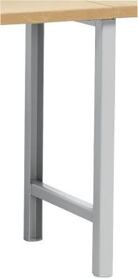 Onderstel voor multiplex-werkbladen WFH807-A1, niet in hoogte verstelbaar, 665 x 800 mm, wit alu RAL 9006