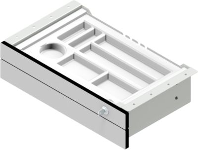 Onderstellade voor elektrisch in hoogte verstelbare tafel TOPAS Line, 2 laden, B 460 mm, B 460 mm