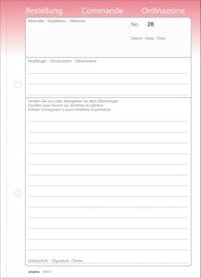 Oneco Bestellscheine, A5, rosa/weiß, 5 Blocks