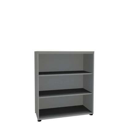 Open kast, 1-delig, 3 OH, b 1000 mm, zilver