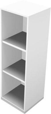 Open kast, 3 OH, b 430 x d 430 x h 1310 mm, wit