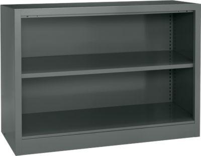 Open stalen kast MS iCOLOUR, 2xOH, b 950 x d400x h865mm, grafiet RAL7024