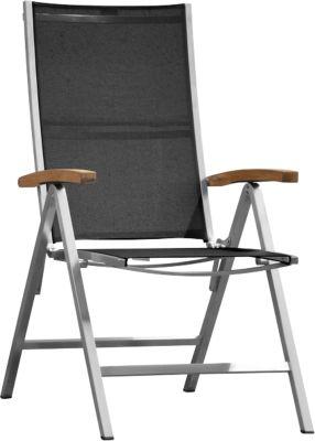 Opklapbare fauteuil Lux, zwart