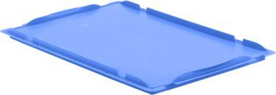 Oplegdeksel LTB-D64, 600 x 400 mm, blauw