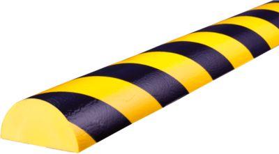 Oppervlaktebescherming type C+, 1 m stuk, geel/zwart, 1 m.