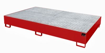 Opvangbak AW 1000-10/2, rood RAL 3000