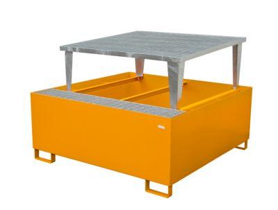 Opvangbak AWA 1000-1, oranje RAL 2000