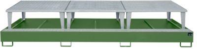 Opvangbak AWA 1000-3, groen RAL 6011