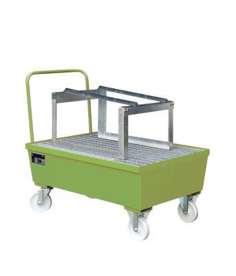 Opvangbak type AST, verrijdbaar, groen RAL6011