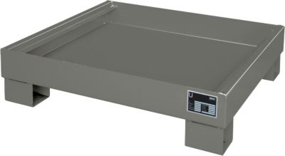 Opvangbakken, Type AW60-2, grijs RAL7005