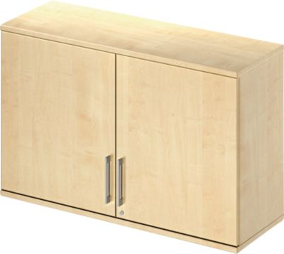 Opzetkast Tetris Wood, 2 ordnerhoogten, breedte 1200 mm, esdoorndecor