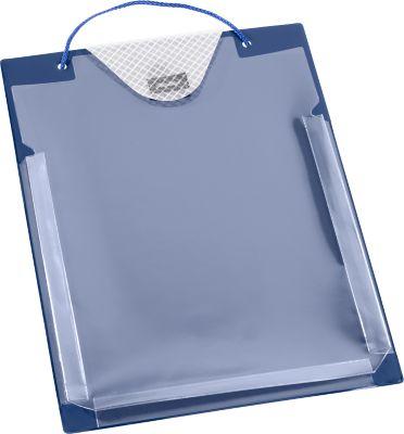 Ordermapjes, DIN A5, met plooi, blauw, 10 st.