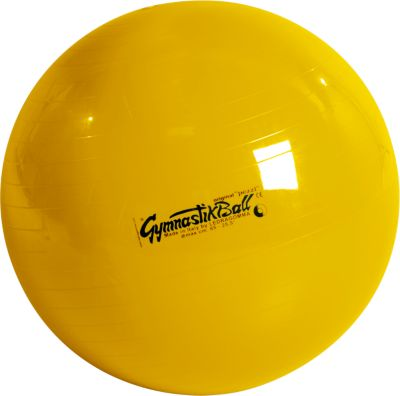 Originele Pezzi® gymnastiekbal, zittende stoel, ø 42 cm, geel