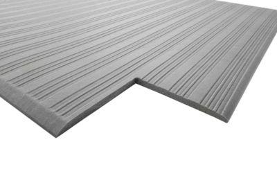 Orthomat® Arbeitsplatzmatte Ribbed, grau, 900 x 1500 mm