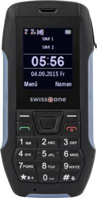 Outdoor Mobiltelefon Swisstone SX567, IP-Schutz 56, Farbdisplay, grau