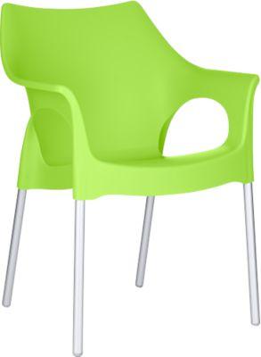 Outdoor stapelstoel OLA, groen, stuk