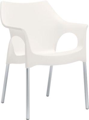 Outdoor stapelstoel OLA, wit, stuk