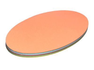 Ovale presentatiekaarten, 220 x 370 mm, div. kleuren, 100 stuks