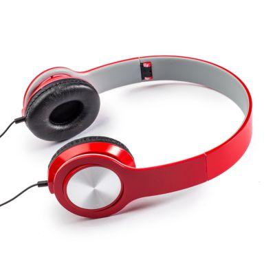 Over-Ear Kopfhörer Wiiliam, 3,5 mm Audiobuchse, geschlossen, klappbar, rot