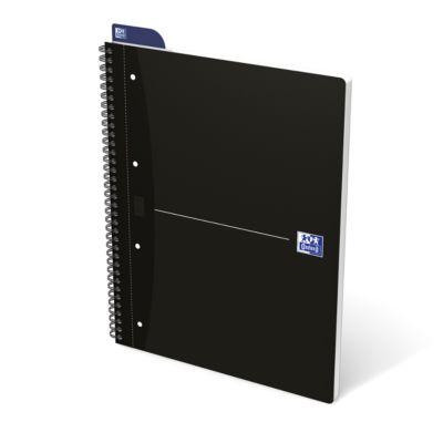 Oxford Office-Collegeblock, DIN A4+, 70 Blatt kariert, 5er Pack, schwarz