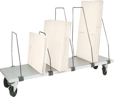 Packpool magazijnrek onder tafel, verrijdbaar, 6 schuifbeugels, voor inpaktafels b 1500 mm
