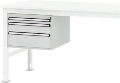 Packpool Schubladen-Unterbau, 3 Schubladen, f. Packpool Packtisch, 35 kg belastbar
