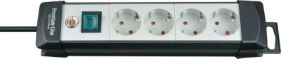 Packpool stekkerdoos, 4 stopcontacten, met veiligheidsschakelaar, 1,8 m kabel