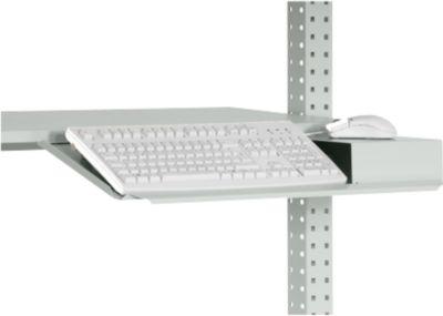Packpool Tastatur-Träger, mit Mousefläche, vorne abgekantet, B 690 mm