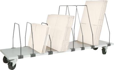 Packpool Untertisch-Magazin, fahrbar, 7 Schiebebügel, f. Packtische B 2000 mm