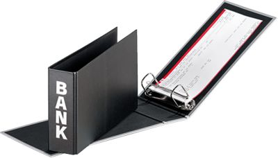 PAGNA Bankordner, PP Karton, Rückenbreite 52 mm,  DIN A5 quer, schwarz