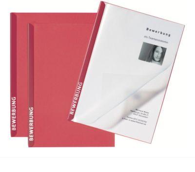 PAGNA Bewerbungsmappen Score 3er Set, DIN A4-Format, Karton, Kapazität 20 Blatt, rot