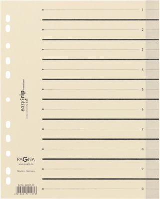 PAGNA Easy Rip Trennblätter, DIN A4-Format, Linienaufdruck, 100 Stück, schwarz