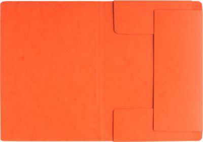 PAGNA Eckspannmappe, DIN A4, 3 Einschlagklappen, orange